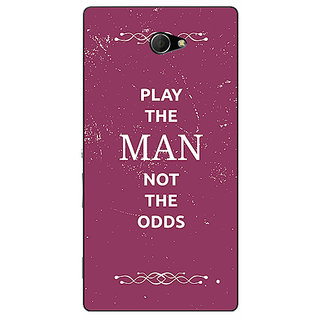 EYP SUITS Quotes Back Cover Case For Sony Xperia M2 Dual 320482