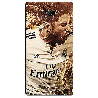 EYP Real Madrid Sergio Ramos Back Cover Case For Sony Xperia M2 Dual 320588