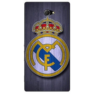 EYP Real Madrid Back Cover Case For Sony Xperia M2 Dual 320589