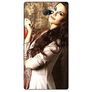 EYP Bollywood Superstar Jacqueline Fernandez Back Cover Case For Sony Xperia M2 311044