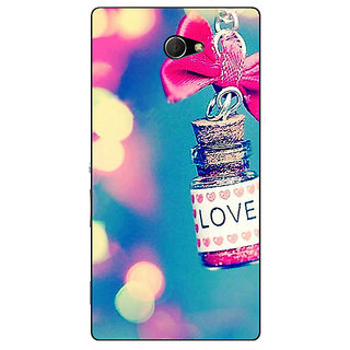 EYP Love Bottle Back Cover Case For Sony Xperia M2 Dual 321145