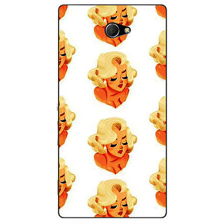 EYP Marilyn Monroe Pattern Back Cover Case For Sony Xperia M2 Dual 321382
