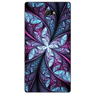 EYP Abstract Flower Pattern Back Cover Case For Sony Xperia M2 311520