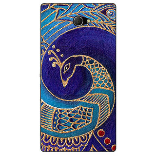 EYP Paisley Beautiful Peacock Back Cover Case For Sony Xperia M2 311589