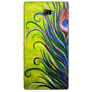 EYP Paisley Beautiful Peacock Back Cover Case For Sony Xperia M2 311590