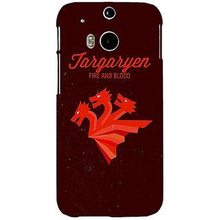 EYP Game Of Thrones GOT House Targaryen  Back Cover Case For HTC One M8 Eye 330137