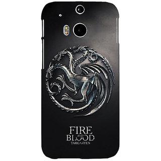 EYP Game Of Thrones GOT House Targaryen  Back Cover Case For HTC One M8 Eye 330145