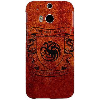 EYP Game Of Thrones GOT House Targaryen  Back Cover Case For HTC One M8 Eye 330151