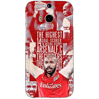 EYP Arsenal Therry Henry Back Cover Case For HTC One M8 Eye 330514