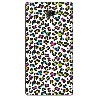 EYP Cheetah Leopard Print Back Cover Case For Sony Xperia M2 Dual 320085