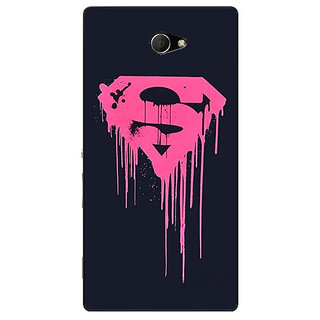 EYP Superheroes Superman Back Cover Case For Sony Xperia M2 Dual 320379