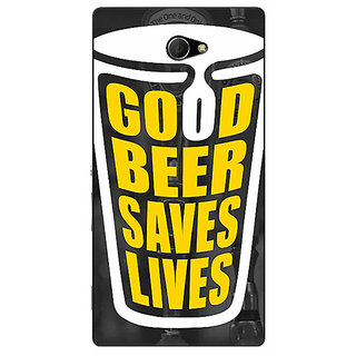EYP Beer Quote Back Cover Case For Sony Xperia M2 Dual 321250