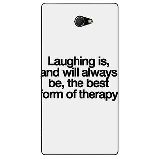 EYP Laughter Quote Back Cover Case For Sony Xperia M2 Dual 321290