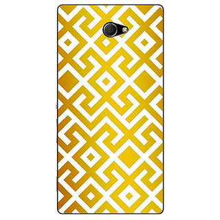 EYP Geometric Pattern Back Cover Case For Sony Xperia M2 Dual 321418