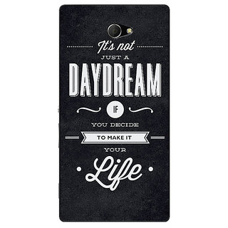 EYP Quote Back Cover Case For Sony Xperia M2 Dual 321471