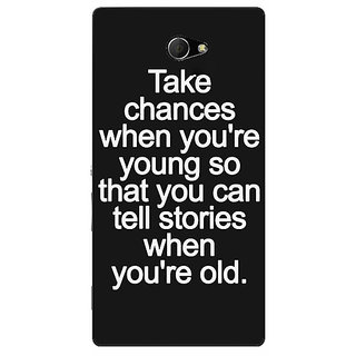 EYP Quote Back Cover Case For Sony Xperia M2 Dual 321476