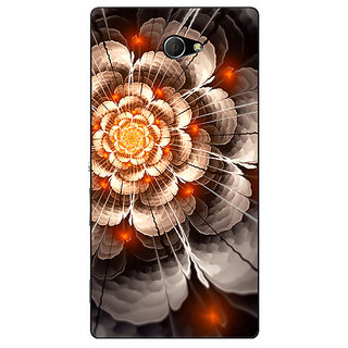 EYP Abstract Flower Pattern Back Cover Case For Sony Xperia M2 Dual 321507