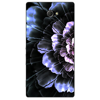 EYP Abstract Flower Pattern Back Cover Case For Sony Xperia M2 Dual 321512