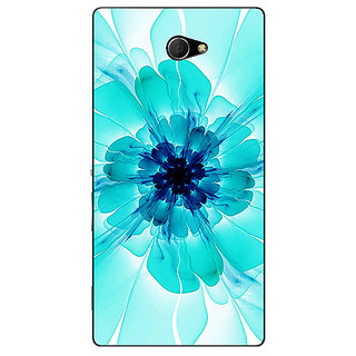 EYP Abstract Flower Pattern Back Cover Case For Sony Xperia M2 Dual 321526