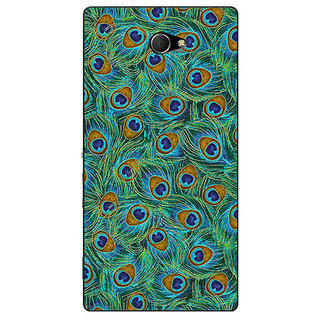 EYP Paisley Beautiful Peacock Back Cover Case For Sony Xperia M2 Dual 321581