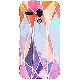 EYP Designer Geometry Pattern Back Cover Case For Moto G (1st Gen) 130237