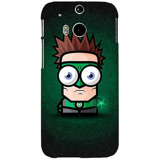 EYP Big Eyed Superheroes Green Lantern Back Cover Case For HTC One M8 Eye 330399