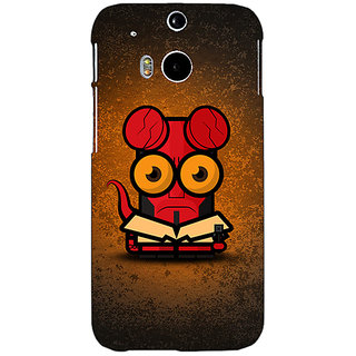EYP Big Eyed Superheroes Hell Boy Back Cover Case For HTC One M8 Eye 330400