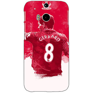 EYP Liverpool Gerrard Back Cover Case For HTC One M8 Eye 330545