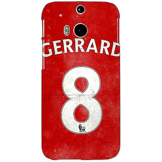 EYP Liverpool Gerrard Back Cover Case For HTC One M8 Eye 330546