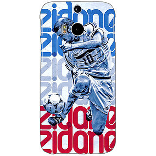 EYP Real Madrid Zidane Back Cover Case For HTC One M8 Eye 330590