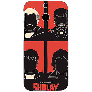 EYP Bollywood Superstar Sholay Back Cover Case For HTC One M8 Eye 331124