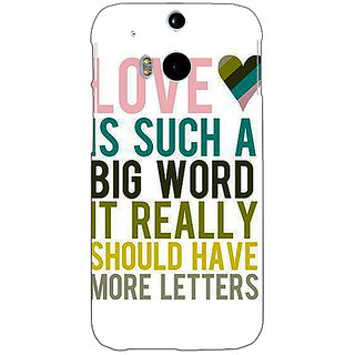 EYP Quotes Love Back Cover Case For HTC One M8 Eye 331152