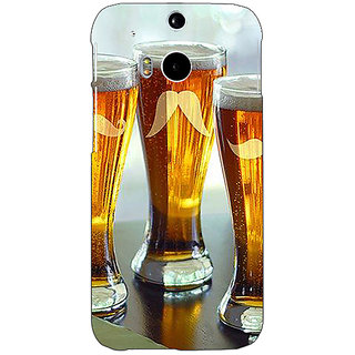 EYP Beer Glasses Back Cover Case For HTC One M8 Eye 331202