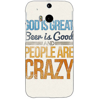 EYP Beer Quote Back Cover Case For HTC One M8 Eye 331215