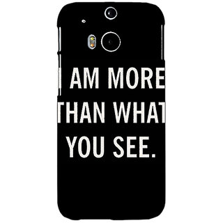 EYP Quote Back Cover Case For HTC One M8 Eye 331230