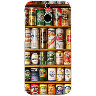 EYP Beer Cans Back Cover Case For HTC One M8 Eye 331233