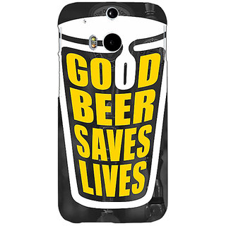 EYP Beer Quote Back Cover Case For HTC One M8 Eye 331250