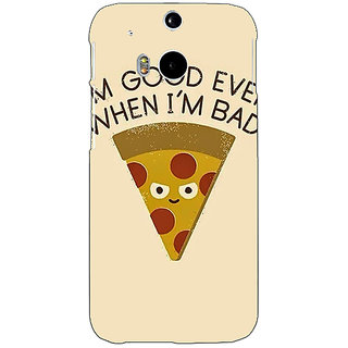 EYP Pizza Quote Back Cover Case For HTC One M8 Eye 331388
