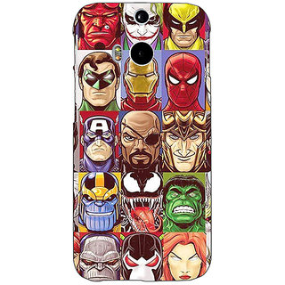 EYP Super Heroes and Villains Back Cover Case For HTC One M8 Eye 331401