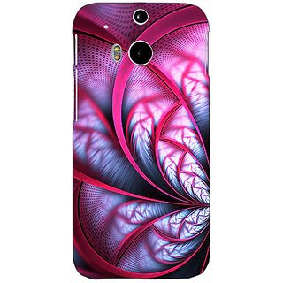 EYP Abstract Flower Pattern Back Cover Case For HTC One M8 Eye 331501