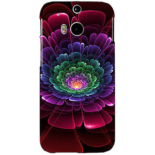 EYP Abstract Flower Pattern Back Cover Case For HTC One M8 Eye 331504