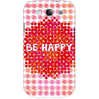 EYP Quotes Happy Back Cover Case For Samsung Galaxy S3 51154