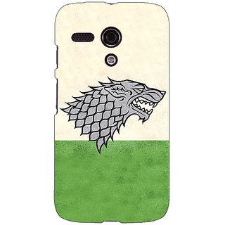 EYP Game Of Thrones GOT House Stark  Back Cover Case For Moto G (1st Gen) 130120