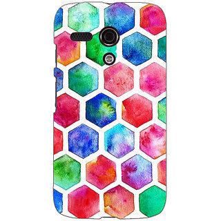 EYP Colour Hexagons Pattern Back Cover Case For Moto G (1st Gen) 130284