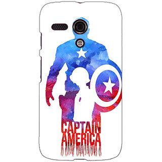 EYP Superheroes Captain America Back Cover Case For Moto G (1st Gen) 130332