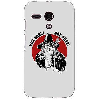 EYP LOTR Hobbit Gandalf Back Cover Case For Moto G (1st Gen) 130361