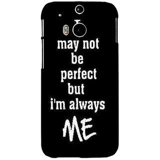 EYP Quote Back Cover Case For HTC One M8 Eye 331289