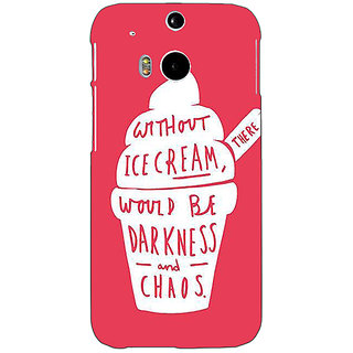 EYP Ice Cream Quote Back Cover Case For HTC One M8 Eye 331296