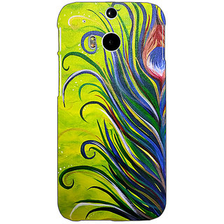 EYP Paisley Beautiful Peacock Back Cover Case For HTC One M8 Eye 331590
