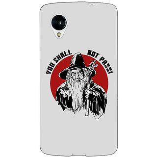 EYP LOTR Hobbit Gandalf Back Cover Case For Google Nexus 5 40361